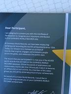 Left Inside of Guinness World Record Certificate
